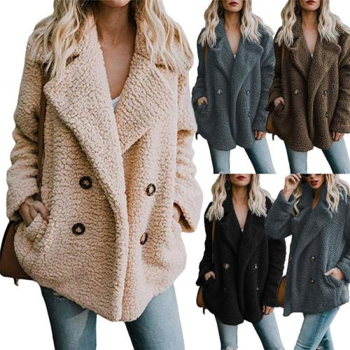 Fashion Warm Fluffy Cardigan Buttoned Coat For Women