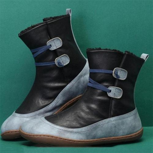 Comfortable Contrasting Fur Interior Slip Resistant Snow Boots