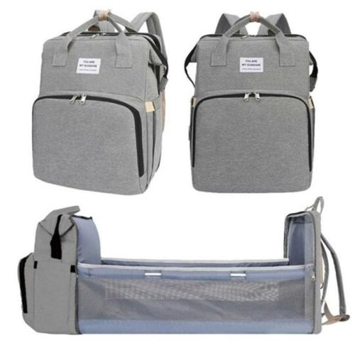 Multifunction Waterproof Lightweight Diaper Bag with Foldable Crib