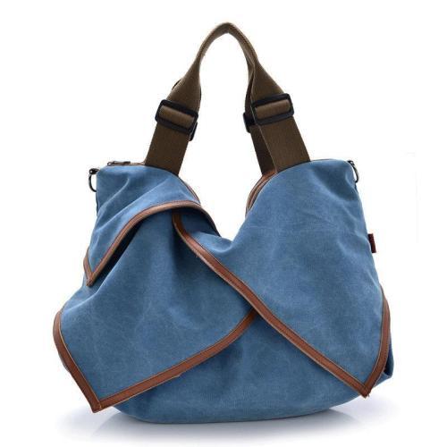 Flower Design Canvas Portable Big Handbags