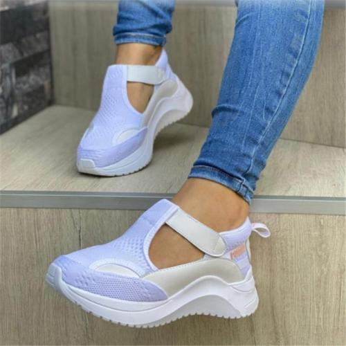 Casual Thick Bottom Sneakers Flat Mesh Sneakers