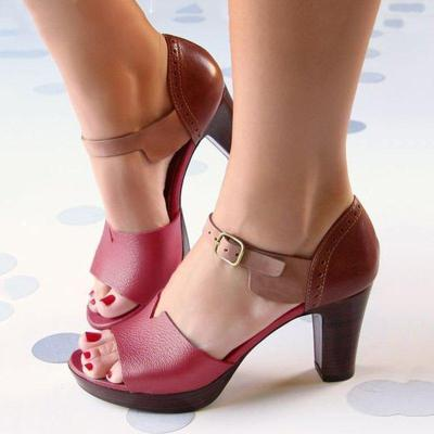 Elegant Chunky Heel Ankle Strap Working/Daily Shoes