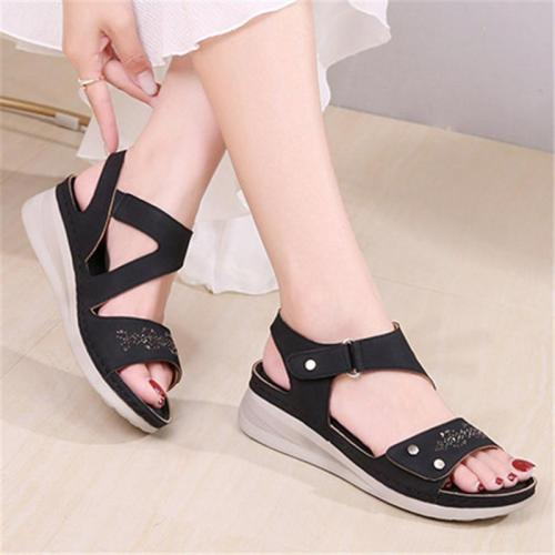 Perfect Fit Adjustable Strap Wedge Heel Platform Ultimate Summer Sandals