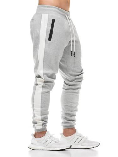 Comfy Cotton Drawstring Elastic Waist Side Stripe Sports Pants