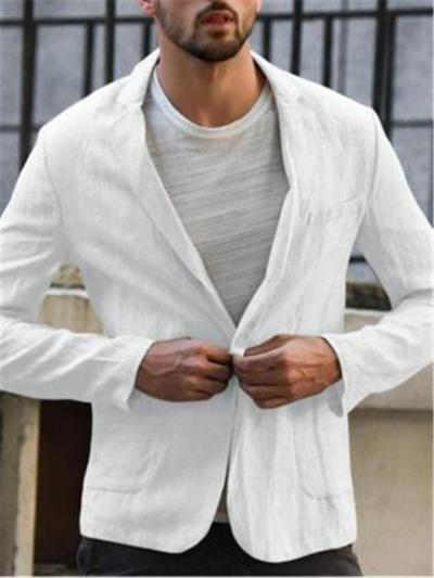 Mens Casual Solid Color Lightweight Blazers