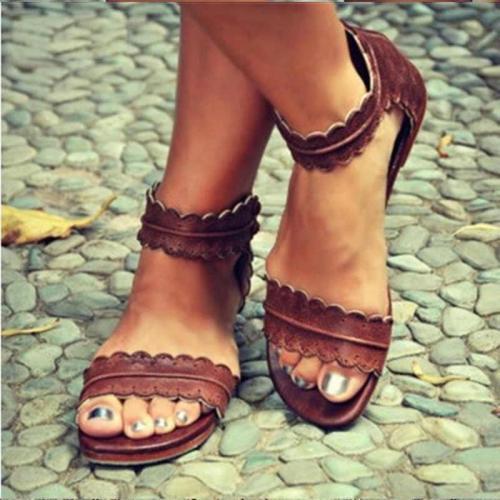 Women's Summer Open Toe Back Zipper Sandals