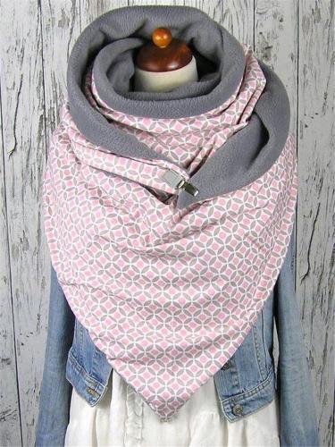 Extra Cozy Plaid Neck Warmer Triangle Scarves & Shawls