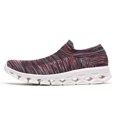 Unisex Breathable Lightweight Heathered Low-Cut Mesh Non-Slip Sneakers