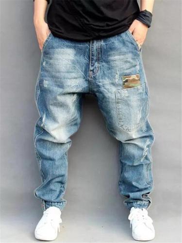 Hip Hop Street Style Baggy Denim Pants