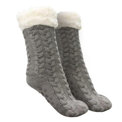 Unisex Warm Soft Ultra-Plush Anti-Slip Grips Huggle Slipper Socks