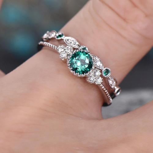 Pretty Fashion Sparkling Zircon Ring Set