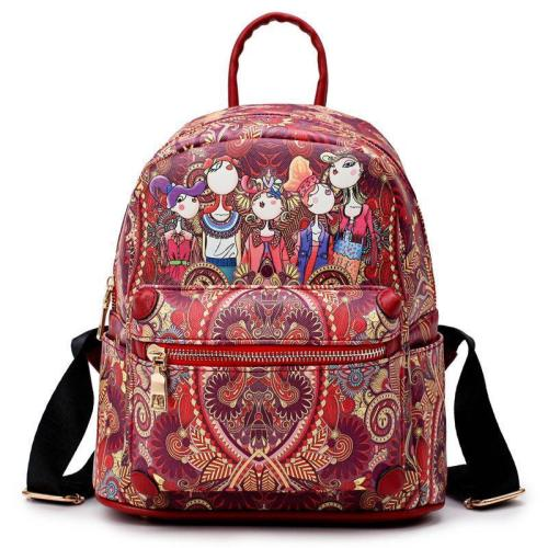 Women's Bohemian Forest Series Large Capacity Backpack
