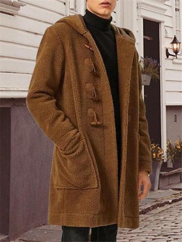 Men's Fashion Hooded Fleece Coat