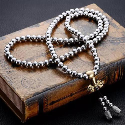 Stylish Ornament Stainless Steel Beaded Multi-Wrap Bracelet