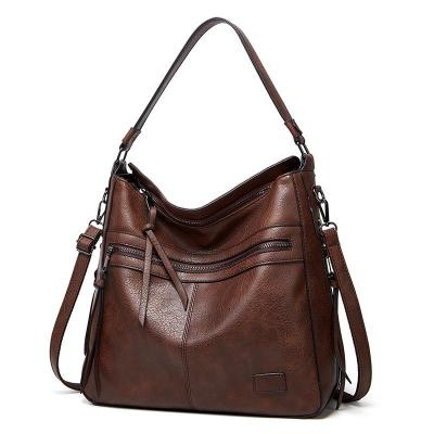 Softly Structured High-Quality Leather Textured Crossbody Shoulder Bag