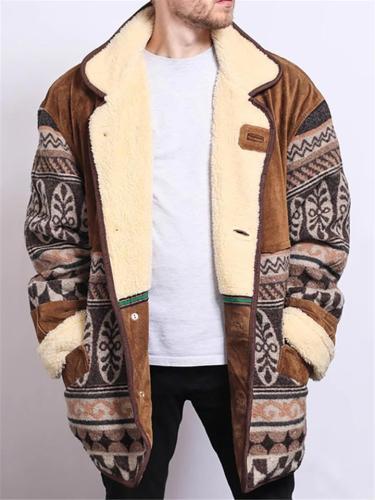 Ultra Comfortable Lapel Thicken Velvet Jacket Coat