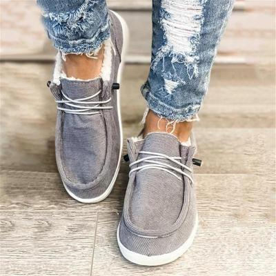 Comfortable Lace Up Low-Cut Flat Heel Non-Slip Cotton Snow Boots