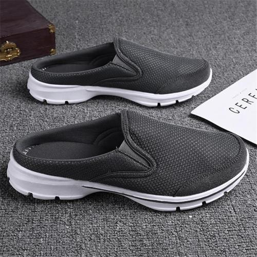 Men's Breathable Lightweight Non-Slip Mesh Slip On Half Shoes