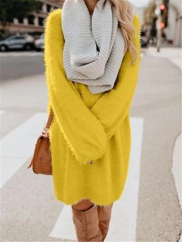 O Neck Women Winter Casual Long Sweater