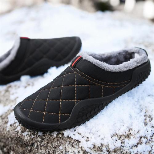 Cozy Warm Plush Lined Waterproof Casual Closed-Toe Slippers