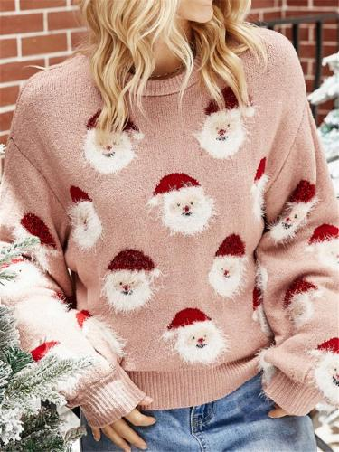 Stylish Christmas Themed Santa Claus Pullover Knitted Sweater