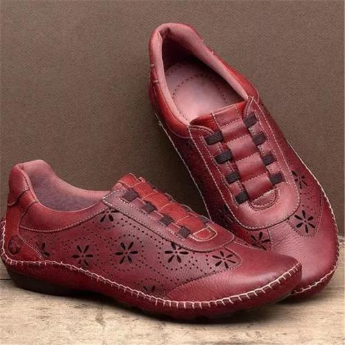 Casual Style Low-Cut Cutout Design Non-Slip Flat Loafers