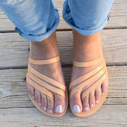 Women PU Casual Flip Flops Slippers