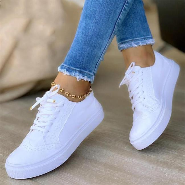 Comfy Casual Low-Cut Lace Up Non-Slip Suede FlatHeel Shoes