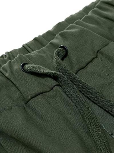 Elastic Waist Drawstring Sports Knee Shorts With Pockets