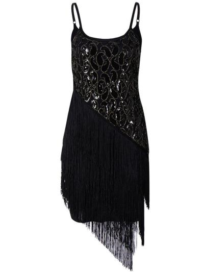 Decent Sequined Asymmetric Fringe 1920s Dress for Cocktail Party
