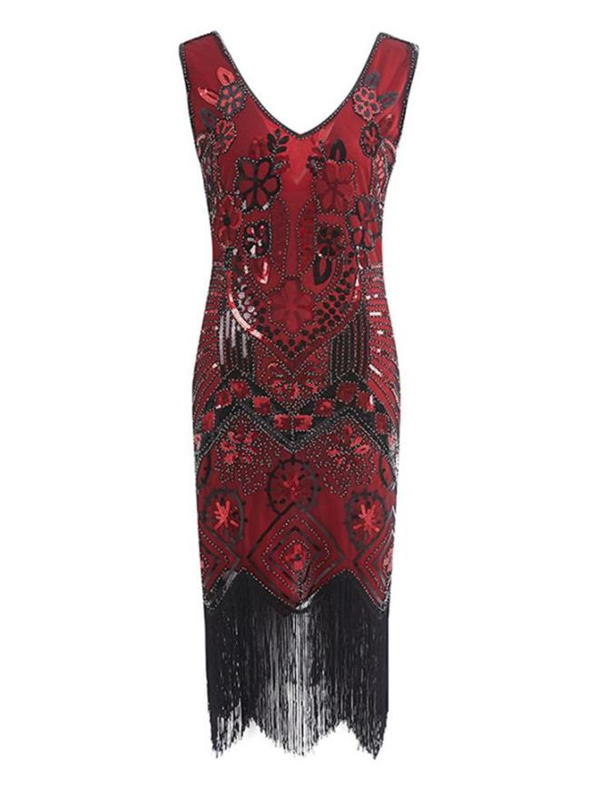 Gorgeous Floral Beaded Flapper 1920s Dress For Cocktail