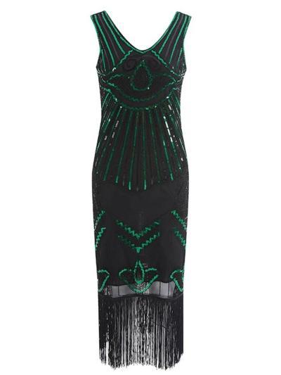 Elegant Sequin Flapper Gatsby 1920s Dress For Prom