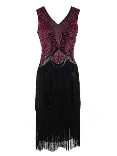 Decent Sequined Fringe Flapper 1920s Dress for Prom
