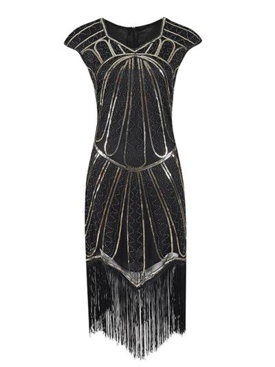 Pretty Sequin Fringed Gatsby 1920s Dress For Party
