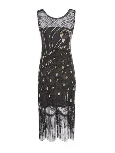Glitter Peacock Flapper 1920s Dress For Cocktail Prom