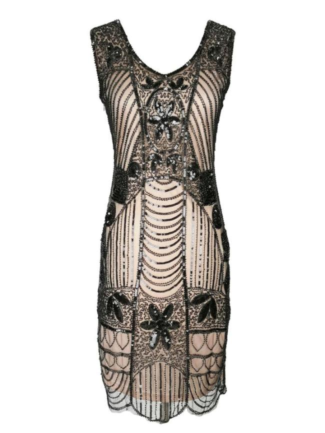 Shiny Fringed Sequined Gatsby Dress for Cocktail Party
