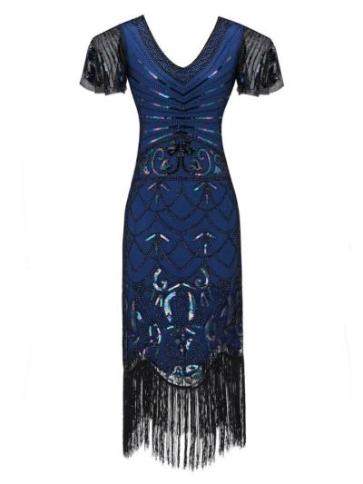 Decent Fringed Flapper Gatsby 1920s Dress For Prom