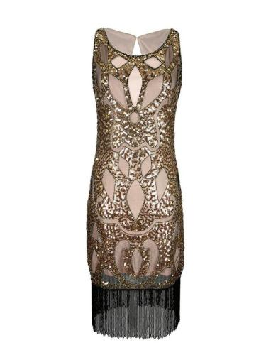 Stunning Fringed Sequined Gatsby Dress for Cocktail Party
