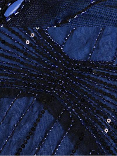 Elegant Beaded Sequin 1920s Dress For Formal Party