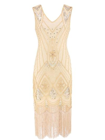 Vintage Sequin Flapper Great Gatsby 1920s Dress For Prom