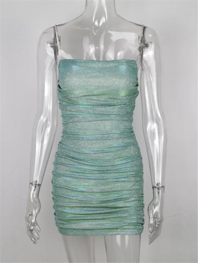 Subtle Sparkle Spaghetti Strap Bodycon Dress