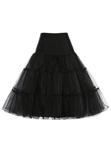 Solid Color 1950S Petticoat Tutu Crinoline Underskirt