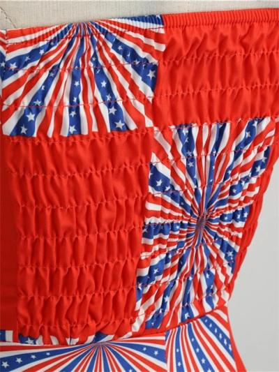 1950S American Flag Halter Dress
