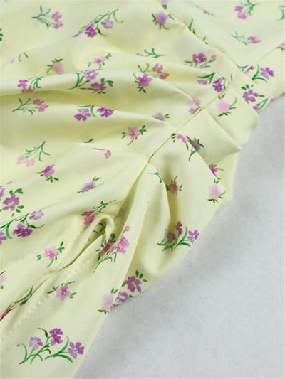 Irresistible Sexy Yellow Floral Slit Slip Dress
