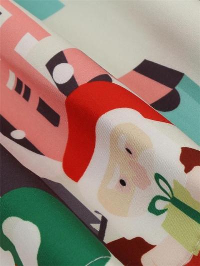 1950S Lovely Christmas Santa Snowflake Swing Dress