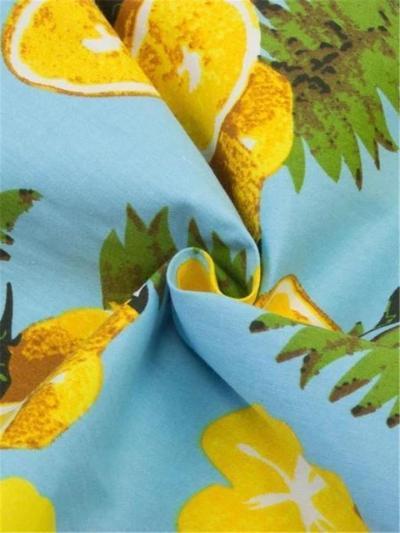 Sweet Blue 1950S Lemon Swing Dress With Cape