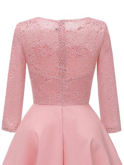 1950S Lace 3/4 Sleeve Swing Midi Dress