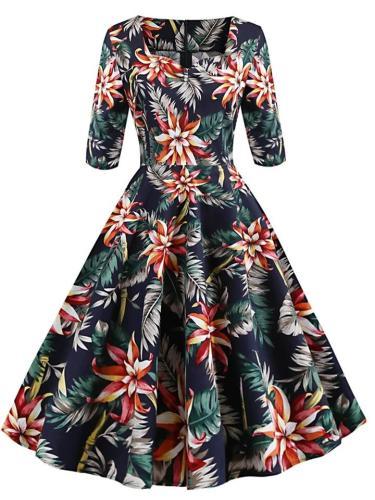 Elegant 1950S Glorious Evening Garden Dress