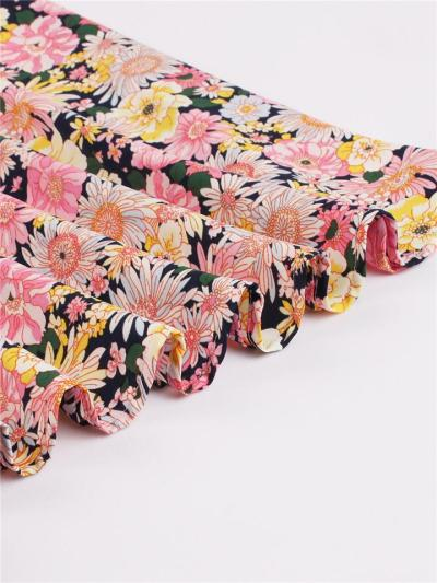 1950S ElegantChic Halter Floral Print A-Line Dress