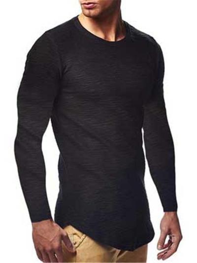Mens Slim Fit Lightweight Comfy Long Sleeve T-Shirts